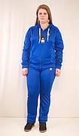 Модный женский спортивный костюм Adidas из ластика, синий.
