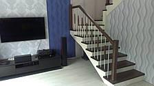 Перила деревянные с металлом, фото 2