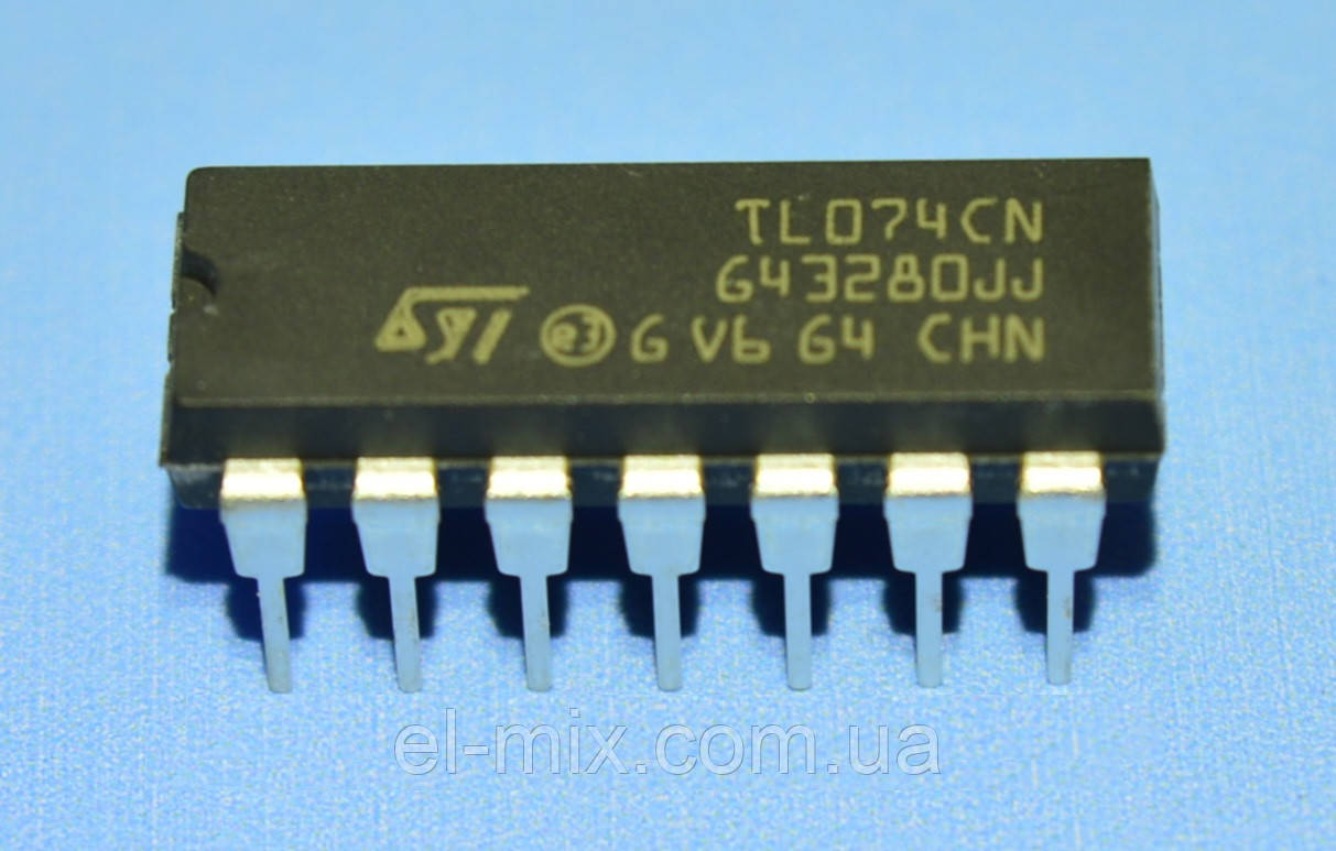 Микросхема TL074CN  STM  DIP14