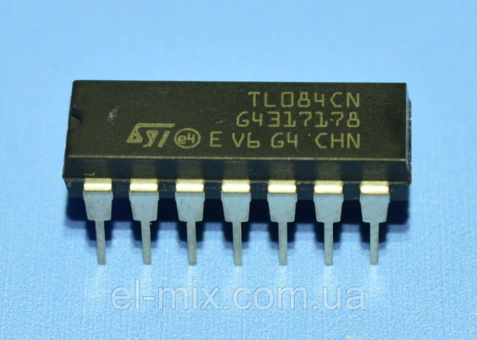Микросхема TL084CN  dip14  STM