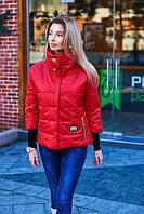 Весенняя женская куртка с широким воротником
