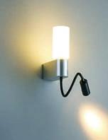 Светодиодное бра прикроватное с поворотным элементом на гибком флексе, LED 5W + CREE 3W блок питания
