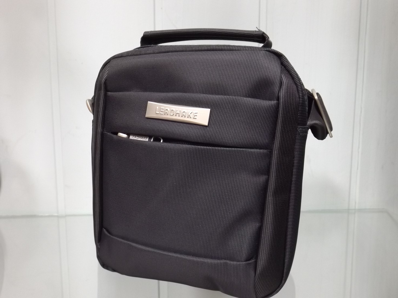 a2efb4789b1e Мужская текстильная сумка через плечо Leadhake 551 черная: продажа ...