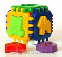 Развивающая игрушка логический сортер-шестигранник