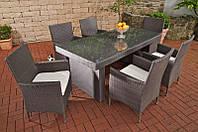 Комплект мебели из ротанга на 6 персон серый, фото 1