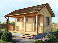Деревянный каркасный дом под ключ