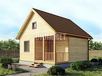 Дачный домик, каркасный дом, деревянный финский дом