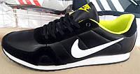 Кроссовки мужские Nike черные с салатовым NI0074