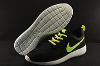 Кроссовки мужские Nike Roshe Run черные 44 размер