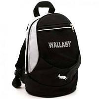 Рюкзак спортивный городской Wallaby мини. Черно-белый.