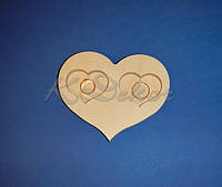 Сердце №2 заготовка для декупажа и декора