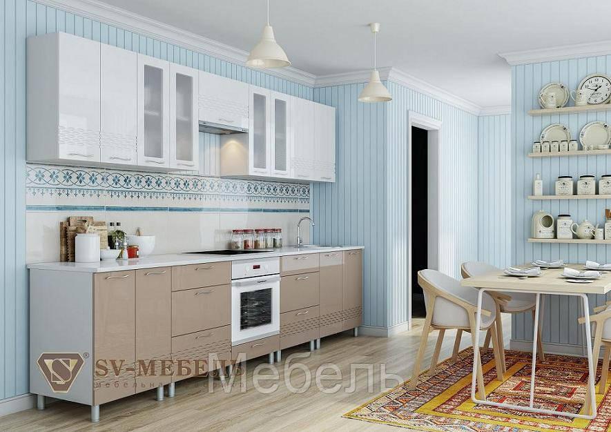 Кухня Волна Капучино (2 м),ф-ка SV Мебель