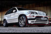 Накладка на передний бампер БМВ Е53 Х5, Юбка передняя BMW X5 E53, фото 1