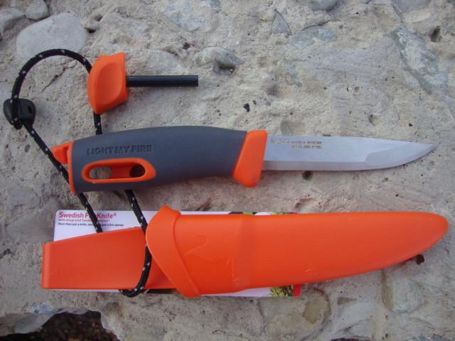 Нож-огниво light my fire KNIFE Orange (12113610)