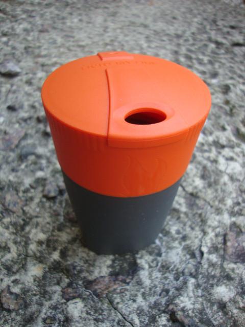 Складной стакан 260мл с крышкой LIGHT MY FIRE Pack-up-Cup Orange 42393610
