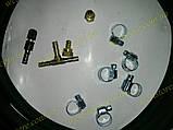 Комплект подкачки набор шланги  для пневмоподушек в пружину 3 метра резиновый (хомуты оцинковка), фото 2