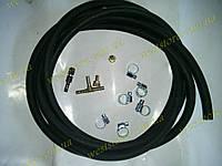 Комплект подкачки набор шланги  для пневмоподушек в пружину 3 метра резиновый (хомуты оцинковка), фото 1