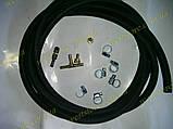 Комплект подкачки набор шланги  для пневмоподушек в пружину 3 метра резиновый (хомуты оцинковка), фото 6