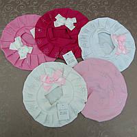 Берет для девочек трикотажный . Шапки детские для девочек, головные уборы детские для детей.