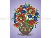 Схема вышивки бисером «Букет полевых цветов» (A4)