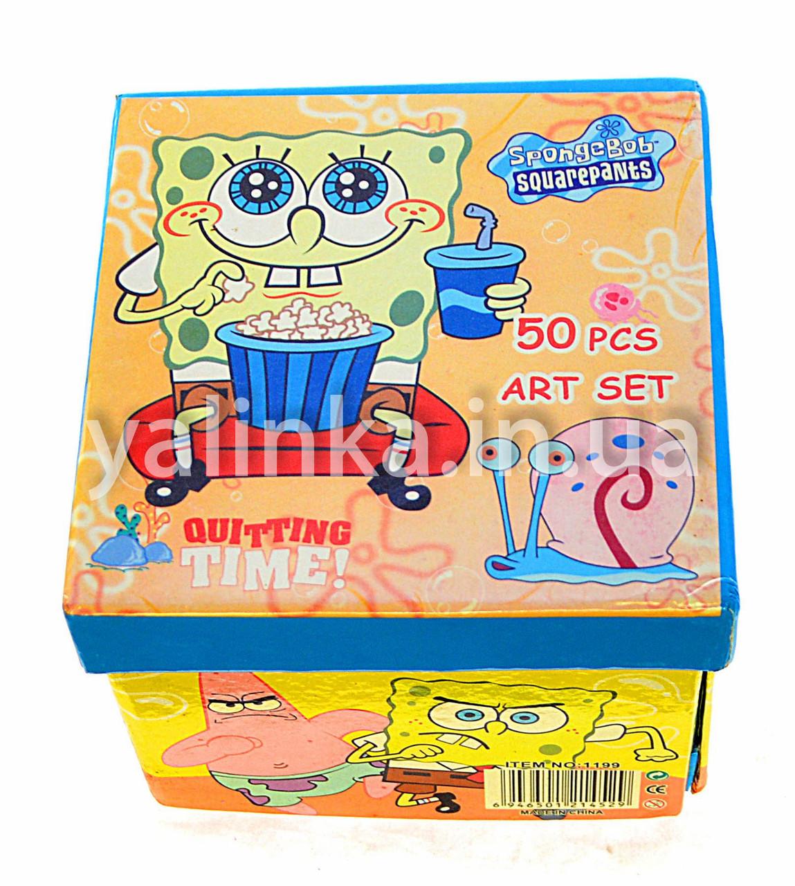 """Набор для детского творчества чемоданчик """"Спанч-Боб""""36 предметов"""