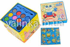 """Набор для детского творчества чемоданчик """"Спанч-Боб""""36 предметов, фото 2"""