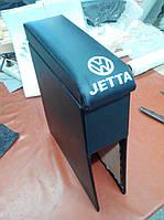 Подлокотник Фольксваген Джетта 2 / VW Jetta 2 (серый с логотипом)