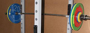Блин Стальной Стандартный 450 мм, 10 кг - зеленый, с ручками
