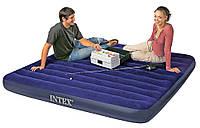 Надувной матрас двухспальный с насосом и подушками Intex 68765