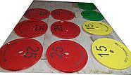 Диск для грифа Стальной Стандартный 450 мм, 25 кг - красный, фото 2