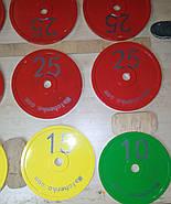 Диск для грифа Стальной Стандартный 450 мм, 25 кг - красный, фото 4