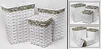 Светлые бельевые корзины набор 3 шт.