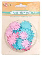 Набор цветов бумажных Крафт цвета 30 шт 952619