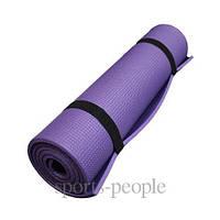 Коврик (каремат) для туризма и фитнеса, однослойный, 12 мм, разн. цвета
