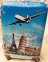"""Чемодан пластиковый для путешествий """"Europe"""""""