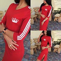 """Платье """"adidas""""  красное SM57"""
