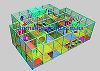 Игровой детский лабиринт Т-образный