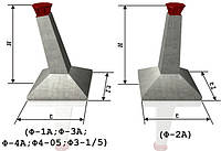 Фундаментные блоки под высоковольтные опоры марки Ф-1А