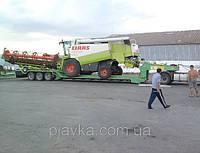Негабаритные грузоперевозки перевозка зерноуборочного комбайна Claas Lexion