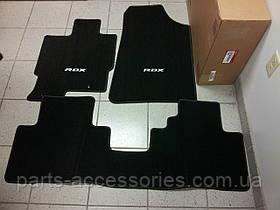 Коврики велюровые черные передние задние Acura RDX 2007-08 новые оригинал