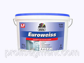 Супер белая декоративная краска для внутренних работ Euroweiss  D604, 12л