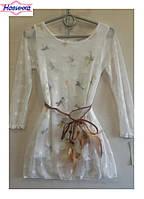 """Платье для девочки """"Бабочки"""" 3, упаковка 6 штуки, рост от 4 до 14 лет"""