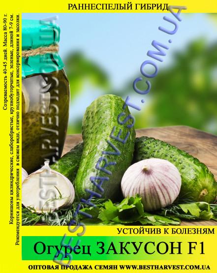 Семена огурца Закусон F1 0,5кг
