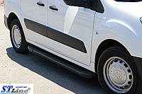 Peugeot Partner Tepee 2008+ г Боковые площадки Allmond Black (2 шт., алюминий)