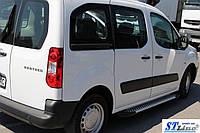 Peugeot Partner Tepee 2008+ г Боковые площадки Line (2 шт., алюминий)