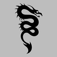 Виниловая интерьерная наклейка - Змея