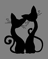 Виниловая интерьерная наклейка - Коты 2, фото 1