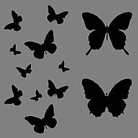 Виниловая интерьерная  наклейка Бабочки 1