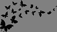Виниловая интерьерная  наклейка Бабочки 2