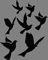 Виниловая интерьерная наклейка Голубки, фото 1